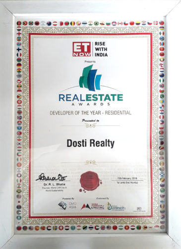 Real Estate Awards - Developer of The Year - Residential