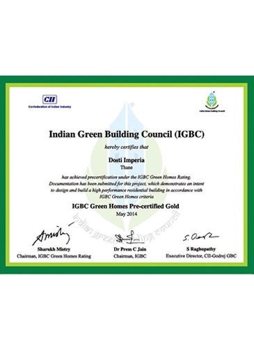 IGBC Green Homes Pre-certified Gold