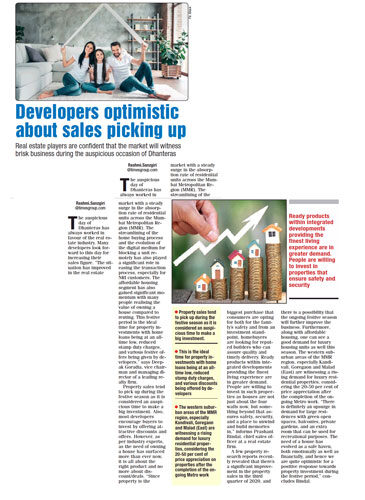 Developers optimistic about sales picking up