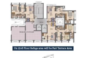 15th Floor (Refuge) and 23rd Floor (Part Terrace) On 23rd